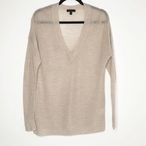 J.CREW Summerweight Mesh V-Neck Over Size Sweater